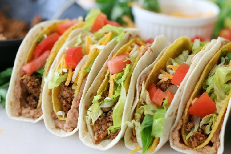 finished double decker tacos