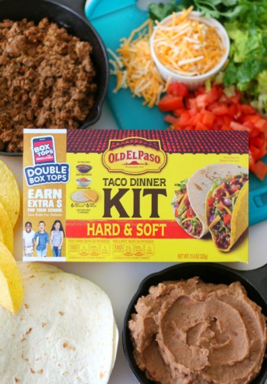 taco kit for double decker taco dinner