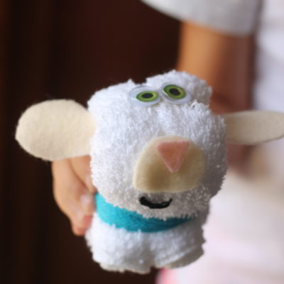 wash cloth softie lamb