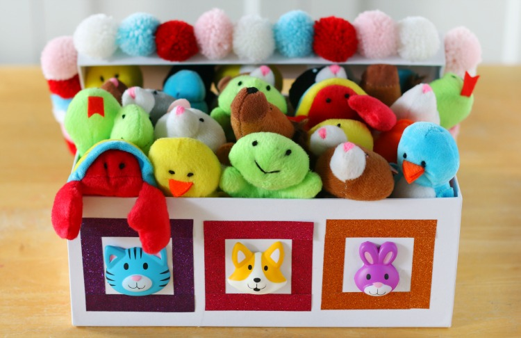 valentine box with mini stuffed animals