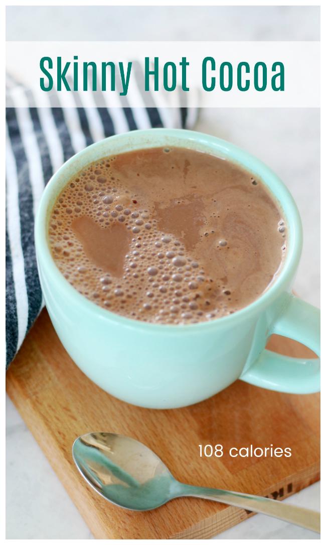 skinny cocoa in mug