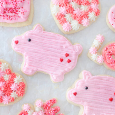 variety of valentine sugar cookies
