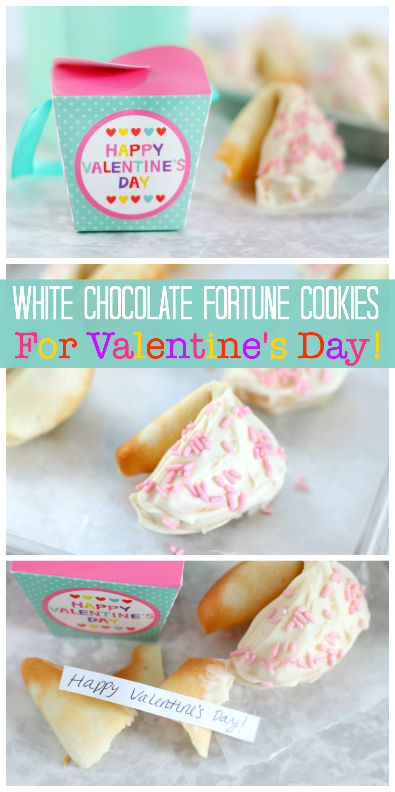 white chocolate fortune cookies