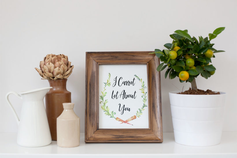 I carrot lot about you free printable easter wall art