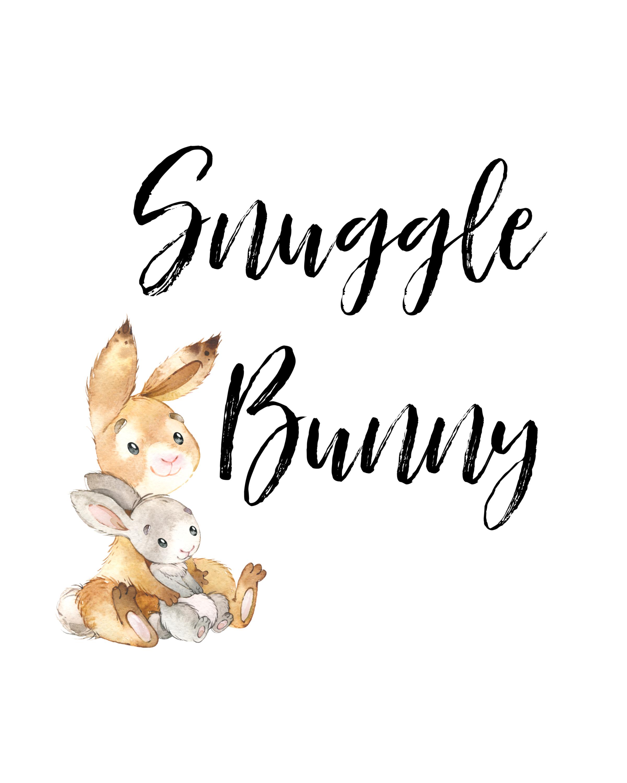 snuggle bunny printable
