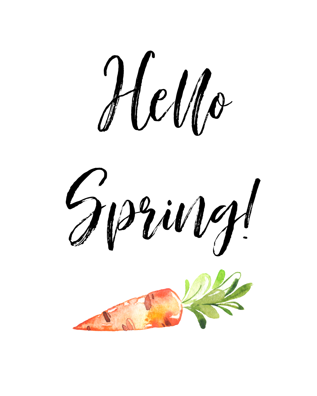 hello spring wall art printable