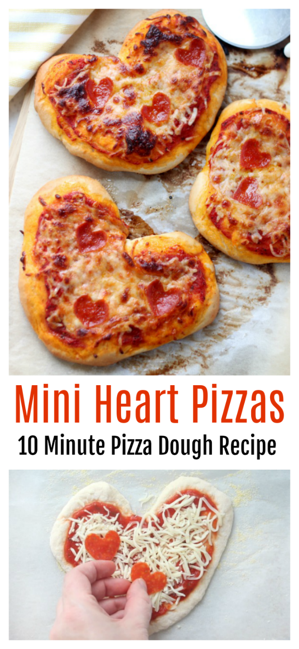 heart pizzas for valentine's day