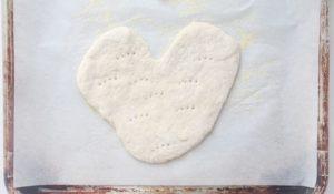 heart shaped pizza dough