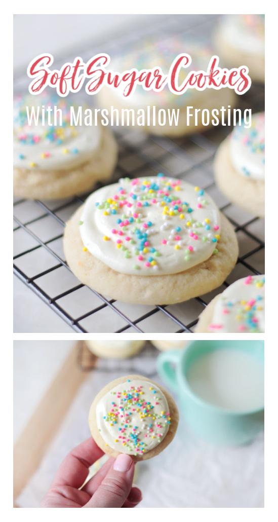 soft sugar cookies on cooling rack