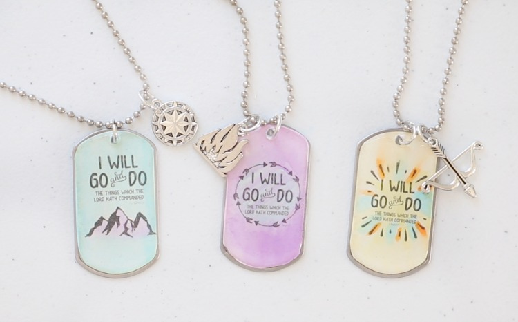 finished dog tag necklaces