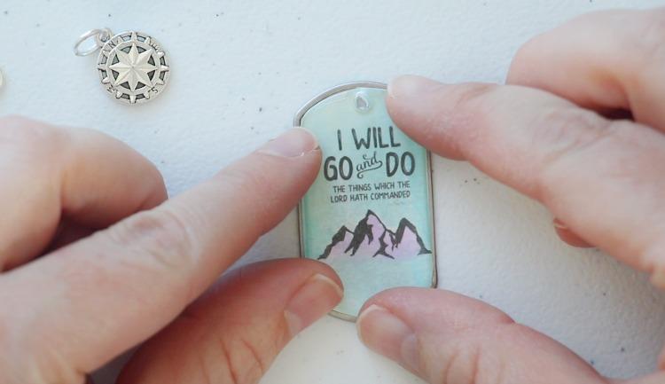 acrylic sticker on dog tag
