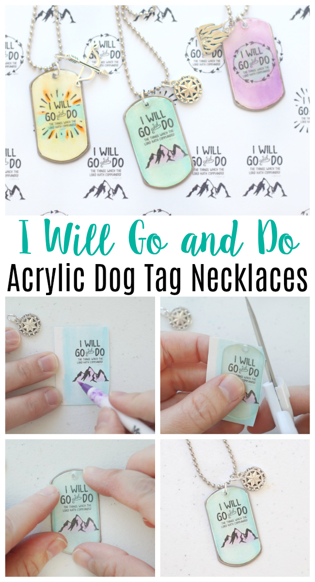 acrylic dog tag necklace photo collage