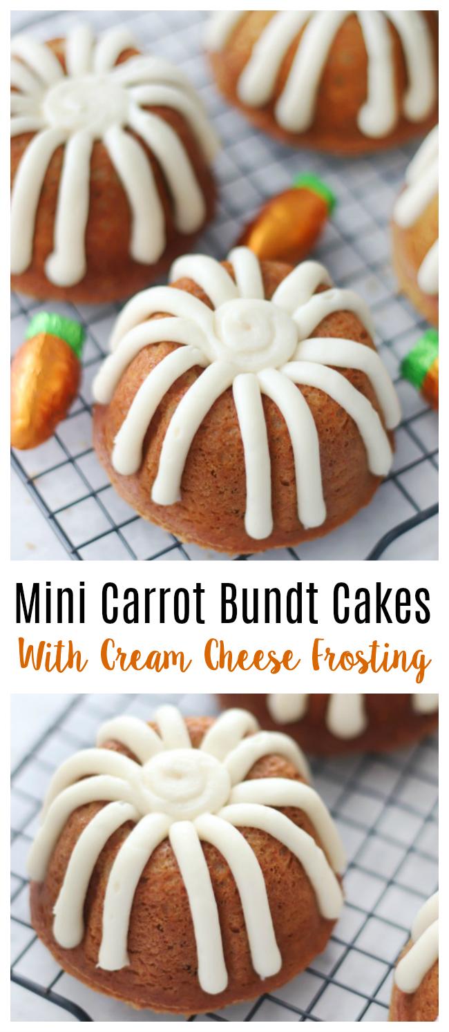 carrot bundt cakes