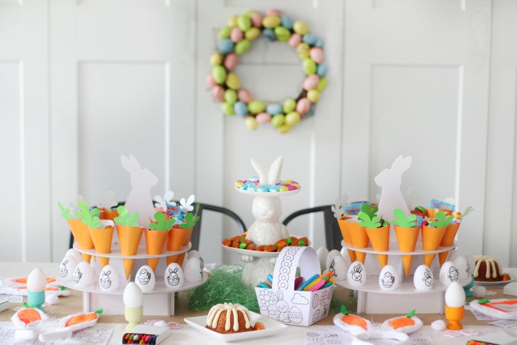 easter party tablescape