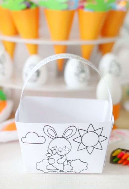 paper easter basket for kids