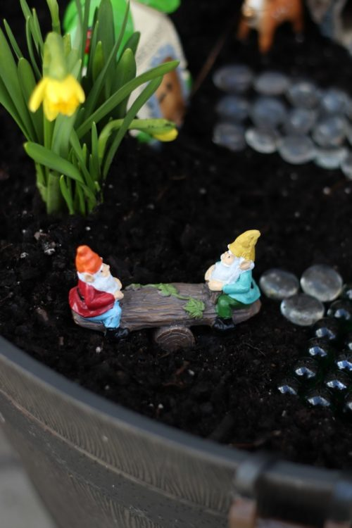 gnome see saw fairy garden character