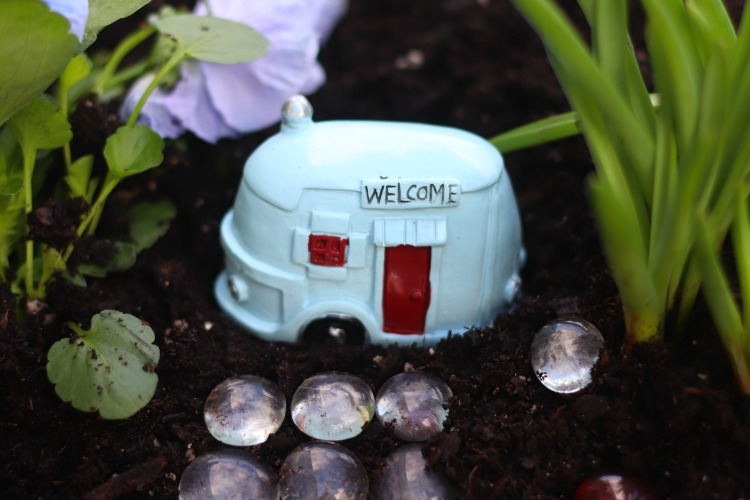 rv fairy garden figurine