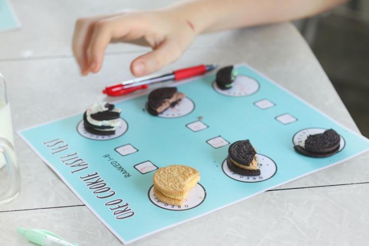 printable worksheet with half eaten cookies for taste test