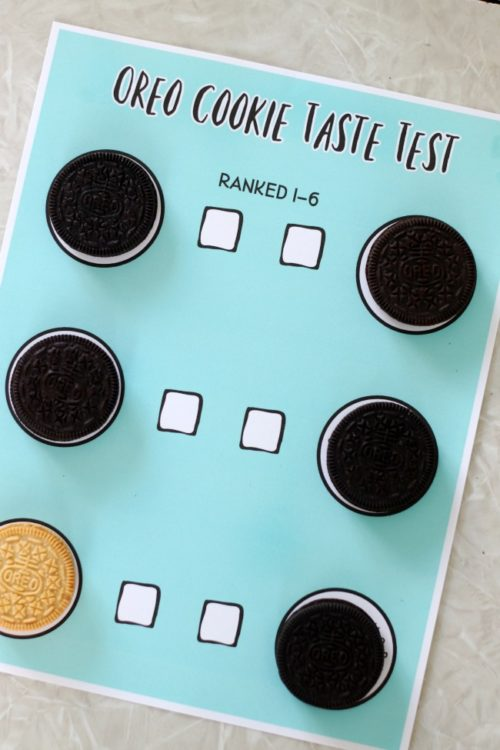 oreo printable with cookies in each slot