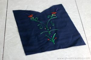 anna apron bodice laying on table