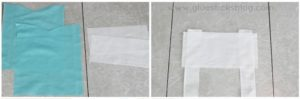 two bodice pieces cut out for elsa apron