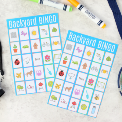 bingo cards on table