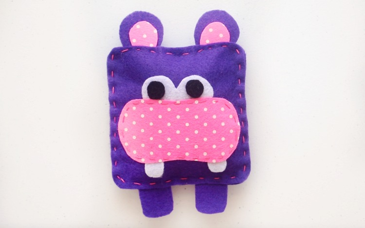 finished hippo softie
