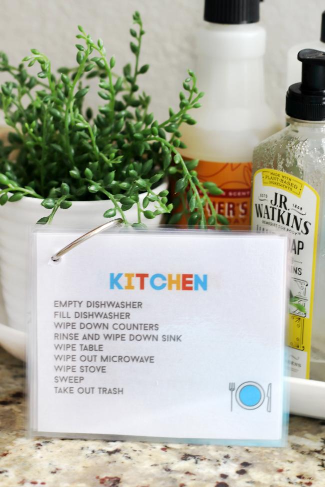 kitchen job card