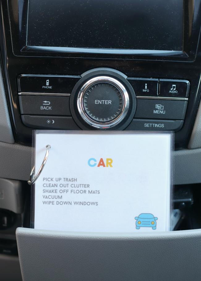 car tasks job cards for kids