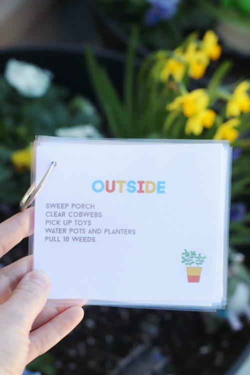 outside job card