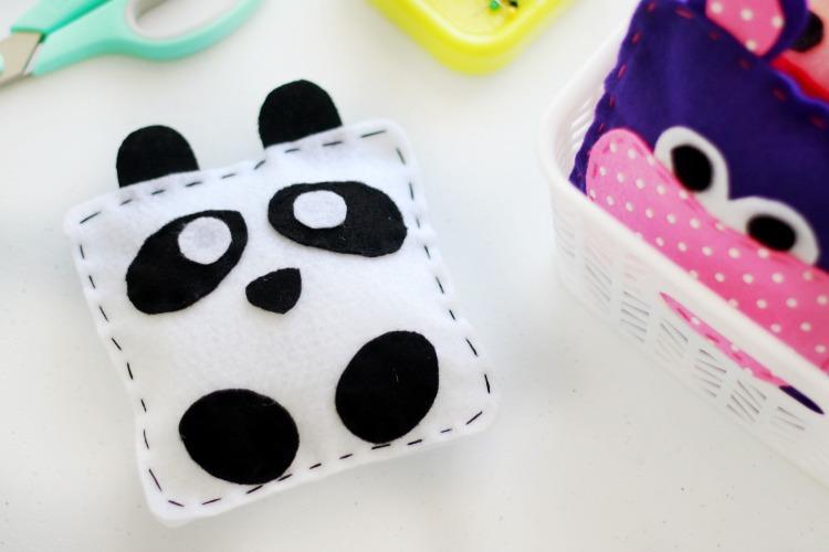 finished panda softie