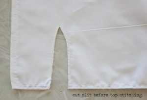 cincerella apron skirt with slit