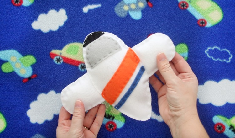 white coast guard c-130 felt airplane