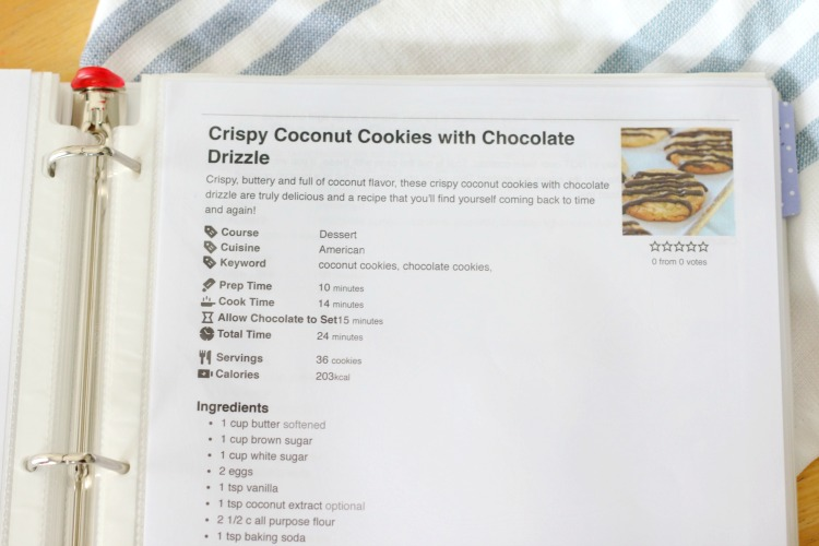 coconut cookies recipe in cookbook
