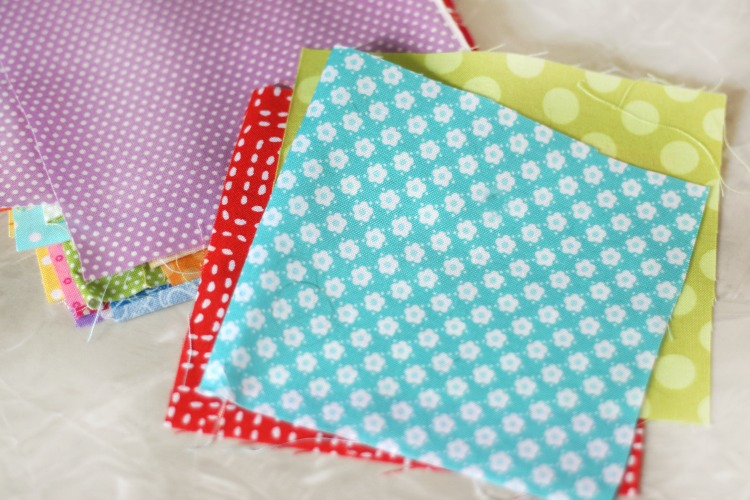 quilt squares in a variety of colors