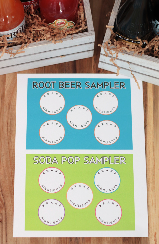 printable labels for root beer sampler