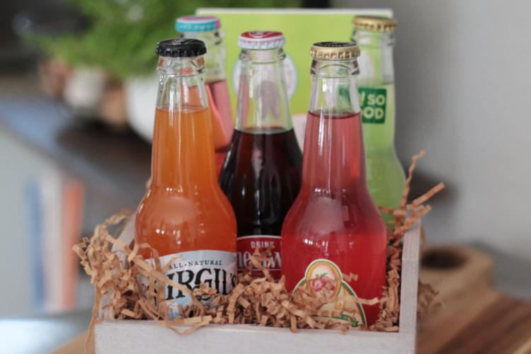 crate of soda pop bottles