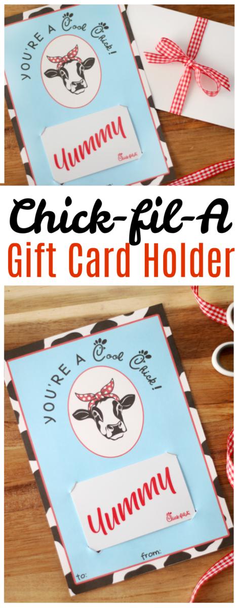 printable chickfila gift card holder  gluesticks blog