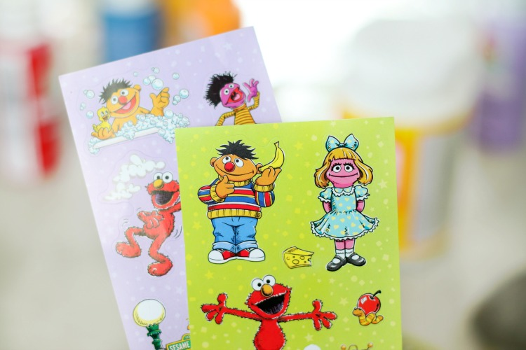 two sheets of sesame street stickers