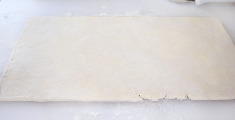 "puff pastry rolled out 1/4"" thin"
