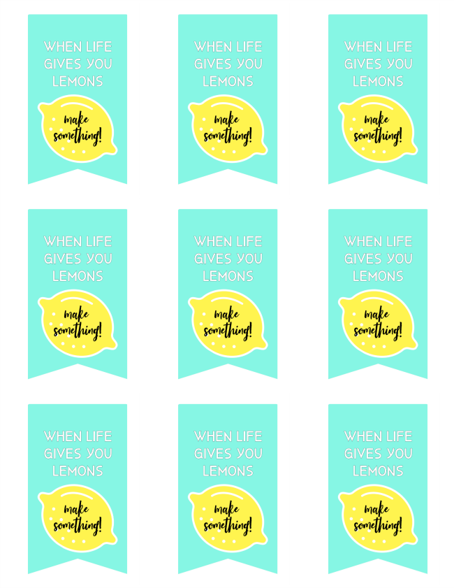 printable lemon tags