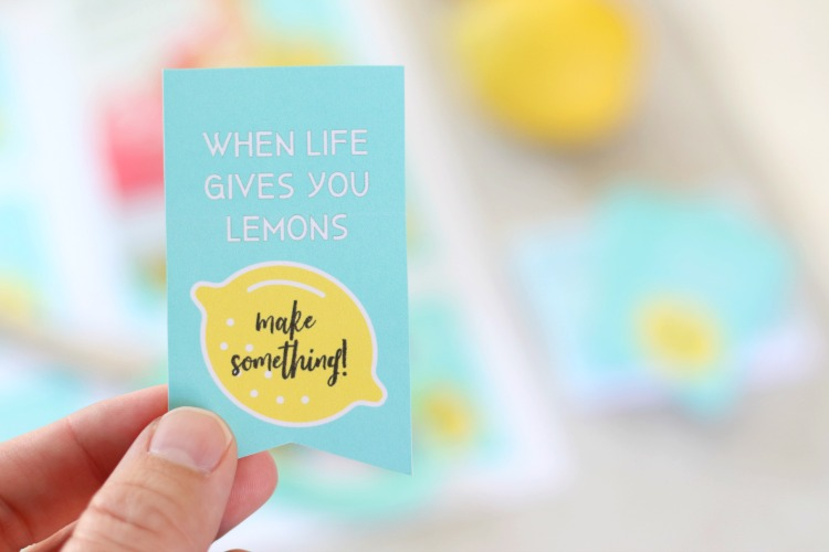 when life gives you lemons printable tag