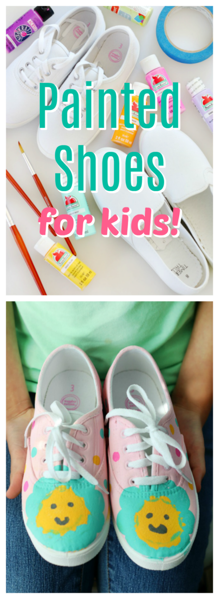 DIY Painted Shoes For Kids With Acrylic