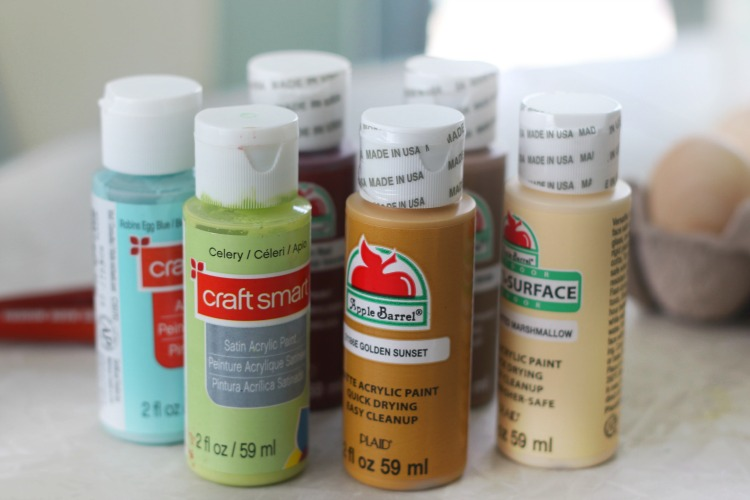 bottles of acrylic craft paint