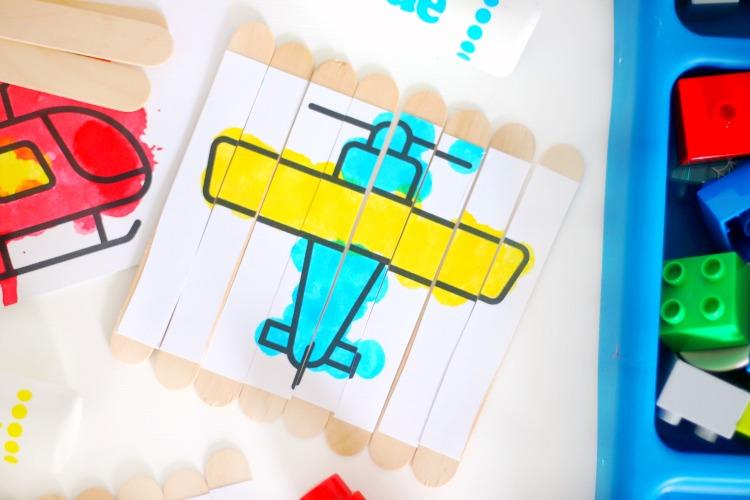 airplane puzzle sticks
