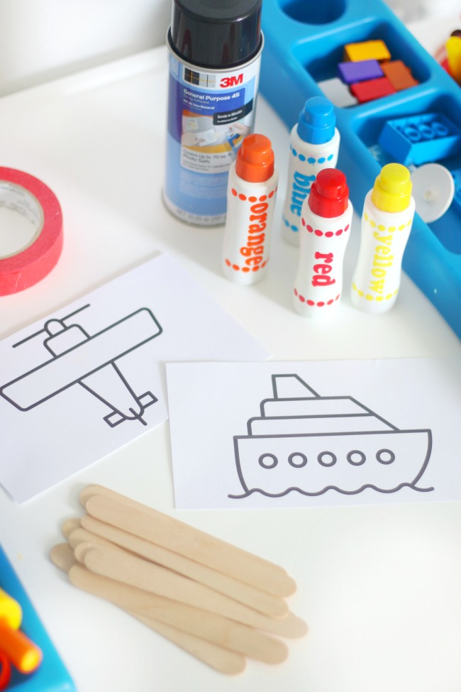 coloring pages to color and glue onto popsicle sticks