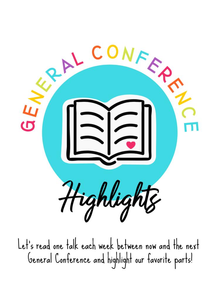 digital image of general conference handout