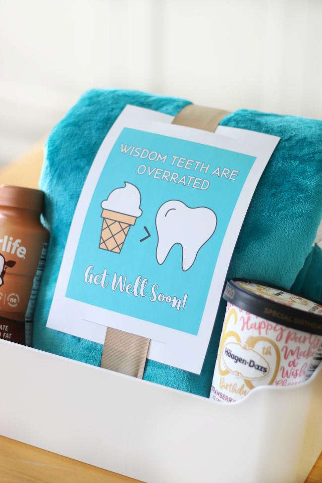 wisdom teeth gift basket