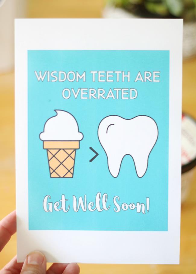 printable wisdom teeth card
