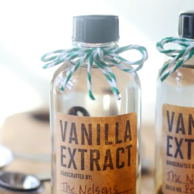 fresh bottle of vanilla extract